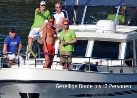 Geselliger Bootsurlaub für bis zu 12 Personen