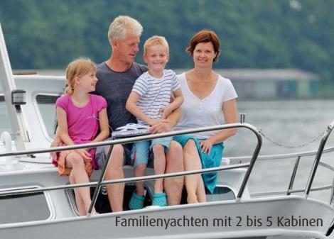 Yachten und Hausboote für Familien